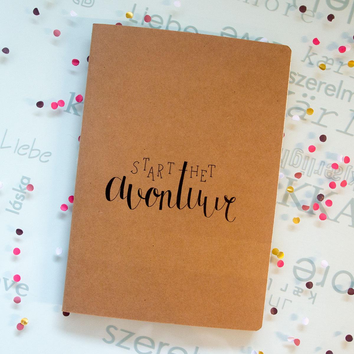 Notitieboekje - Start het avontuur